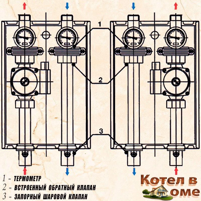 Схема насосной группы нг-47 без смесительного узла