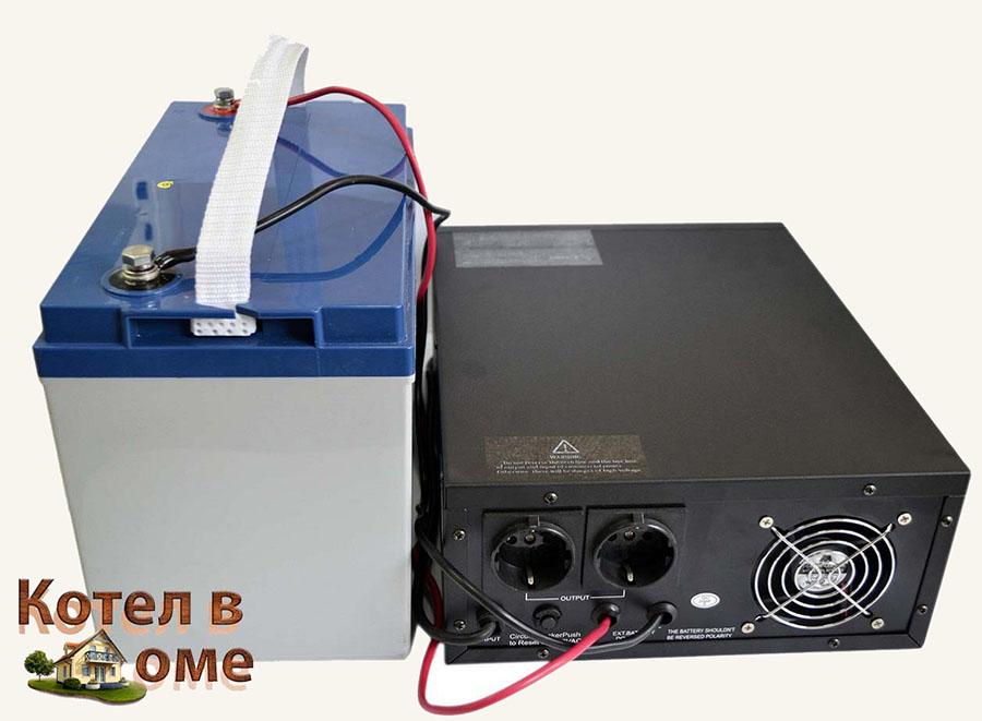 Схема ИБП для системы отепления. Подзарядка от аккумулятора