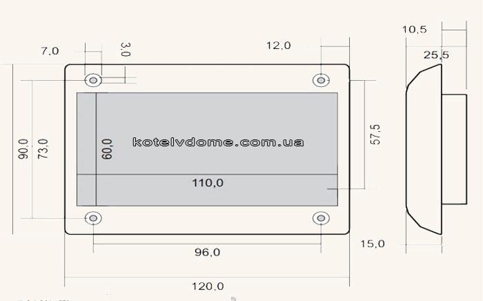 Розміри Inter Electonics IE-76v1