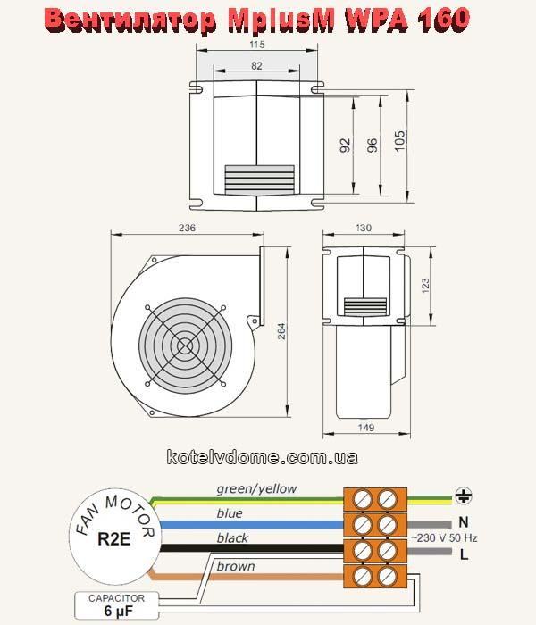 вентилятор WPA 160